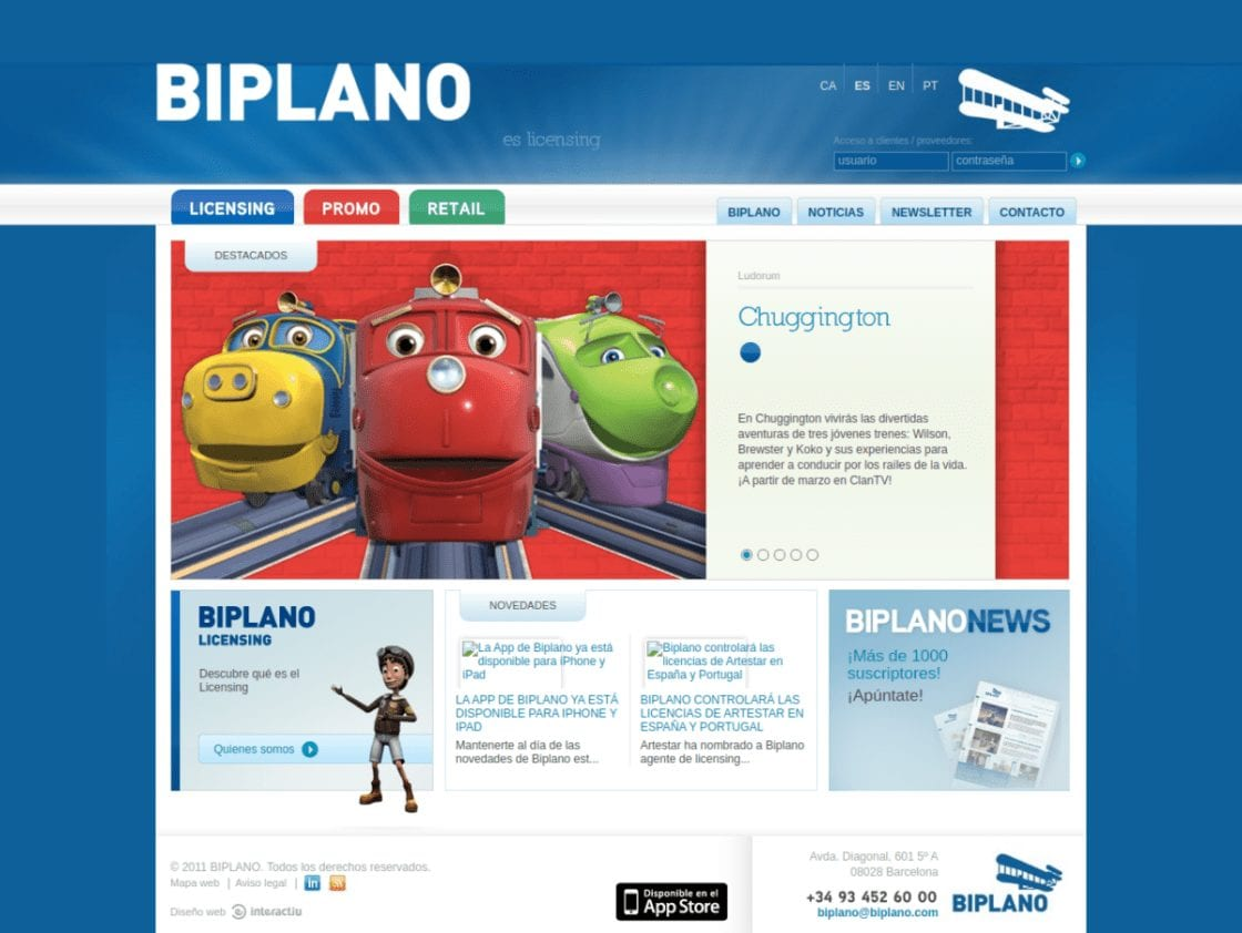 Biplano Licensing